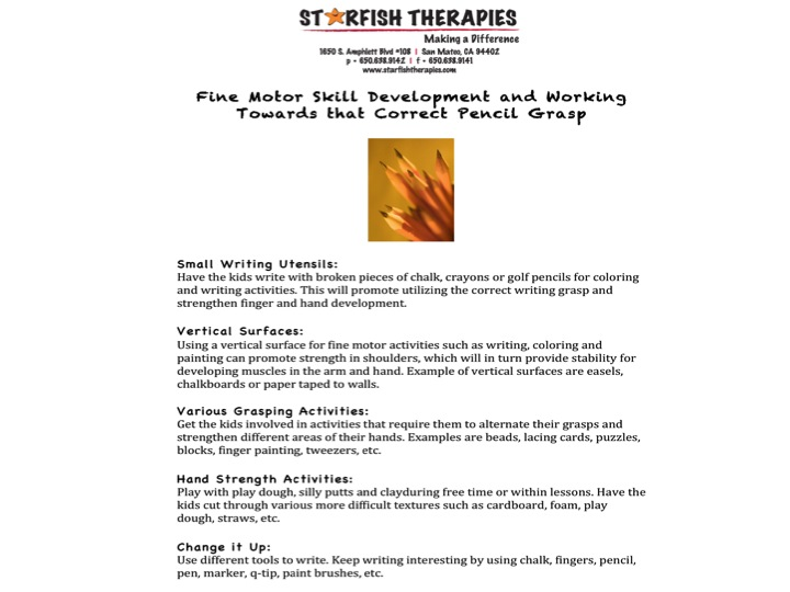 Handwriting Starfish Therapies