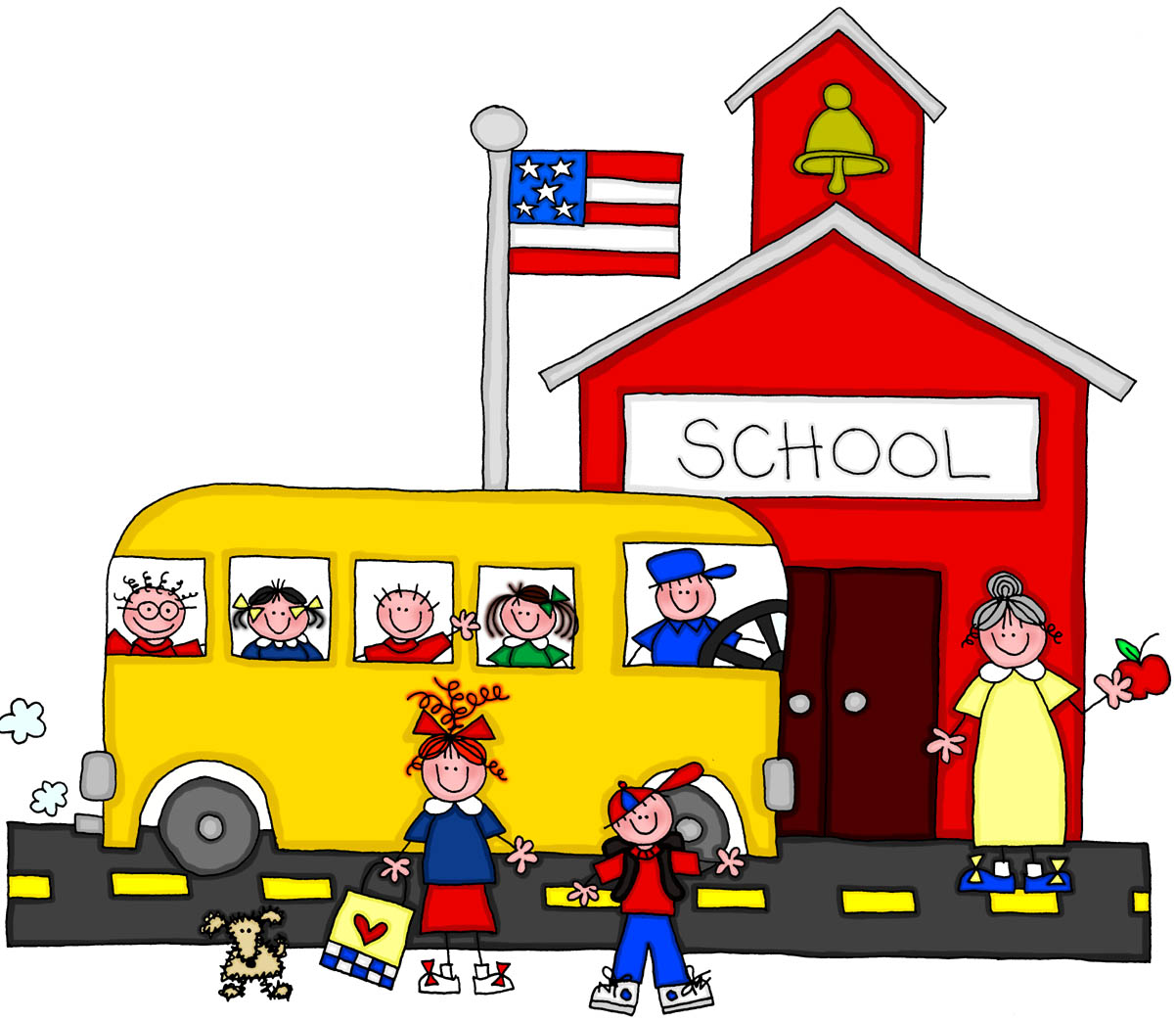 Cartoon physical therapy - Schoolhouse